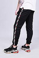 Чорні спортивні штани з лампасами Fila   турецький трикотаж, фото 1