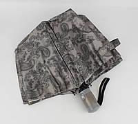 Женский складной зонт полуавтомат Mario 949-4 серый, восточные мотивы, фото 1