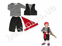 """Новогодний костюм """"Пират"""". Велюр и кулир (рост 104-110, возраст 3-4 года)"""