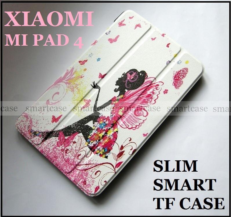 Красивый чехол книжка Фея (Fairy) для Xiaomi Mi pad 4, Mipad 4, кожа PU, модель Slim Smart TF Case цветной