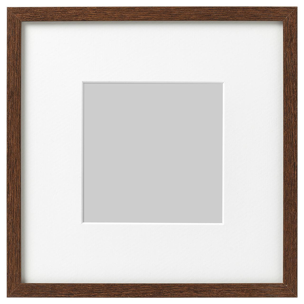 Рамка для фотографий IKEA HOVSTA 23x23 см коричневая 303.657.53