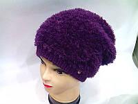 MICHELLE ТМ Камея, женская шапка, полушерстяная, цвет фиолетовый