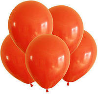 Оранжевые воздушные шары 30 см Мексика 100 шт
