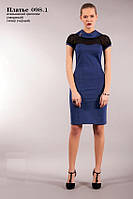 Трикотажное платье с вставками из гепюра