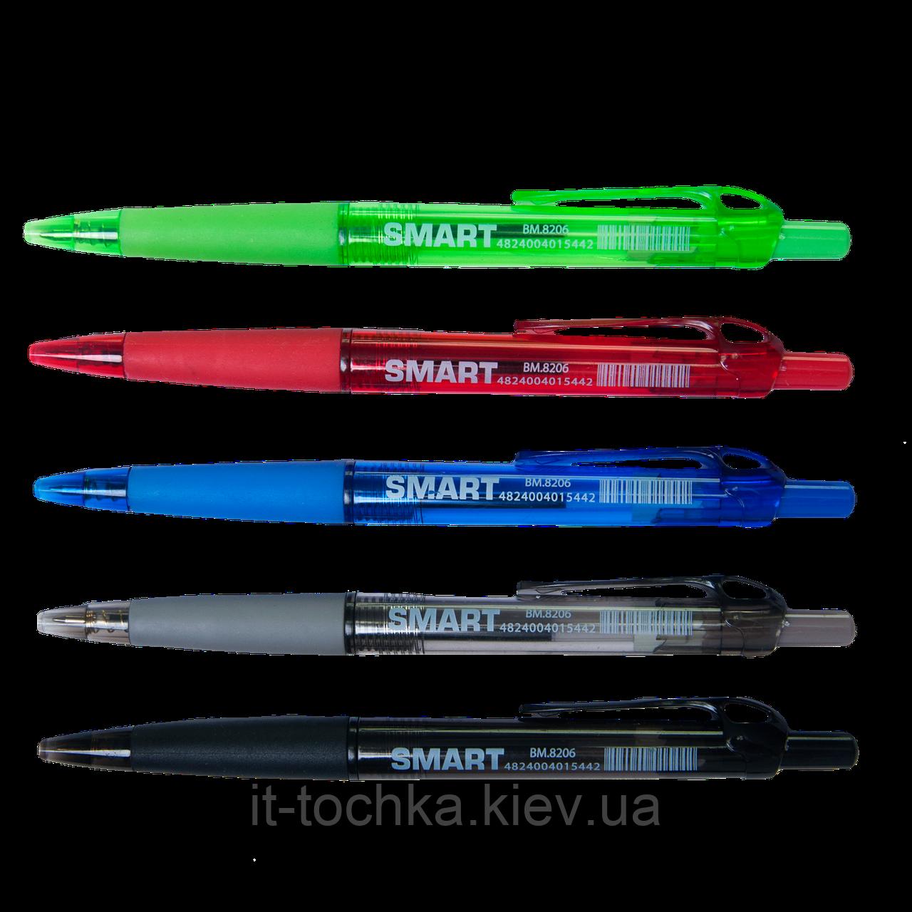 Ручка шариковая автоматическая buromax bm.8206 синяя 0,7 мм