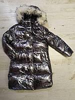 Куртки на меху для девочек оптом, Glo-Story, 110-160 рр., арт.GMA-6456, фото 3