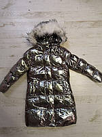 Куртки на меху для девочек оптом, Glo-Story, 110-160 рр., арт.GMA-6456, фото 4