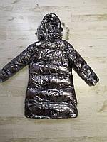 Куртки на меху для девочек оптом, Glo-Story, 110-160 рр., арт.GMA-6456, фото 8