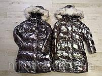 Куртки на меху для девочек оптом, Glo-Story, 110-160 рр., арт.GMA-6456, фото 2