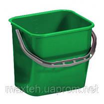 Ведро уборочное из ударопрочного пластика 12 литров зеленое