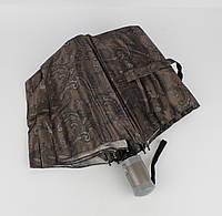 Крепкий складной зонт полуавтомат Mario 949-5 коричневый, восточные мотивы, фото 1
