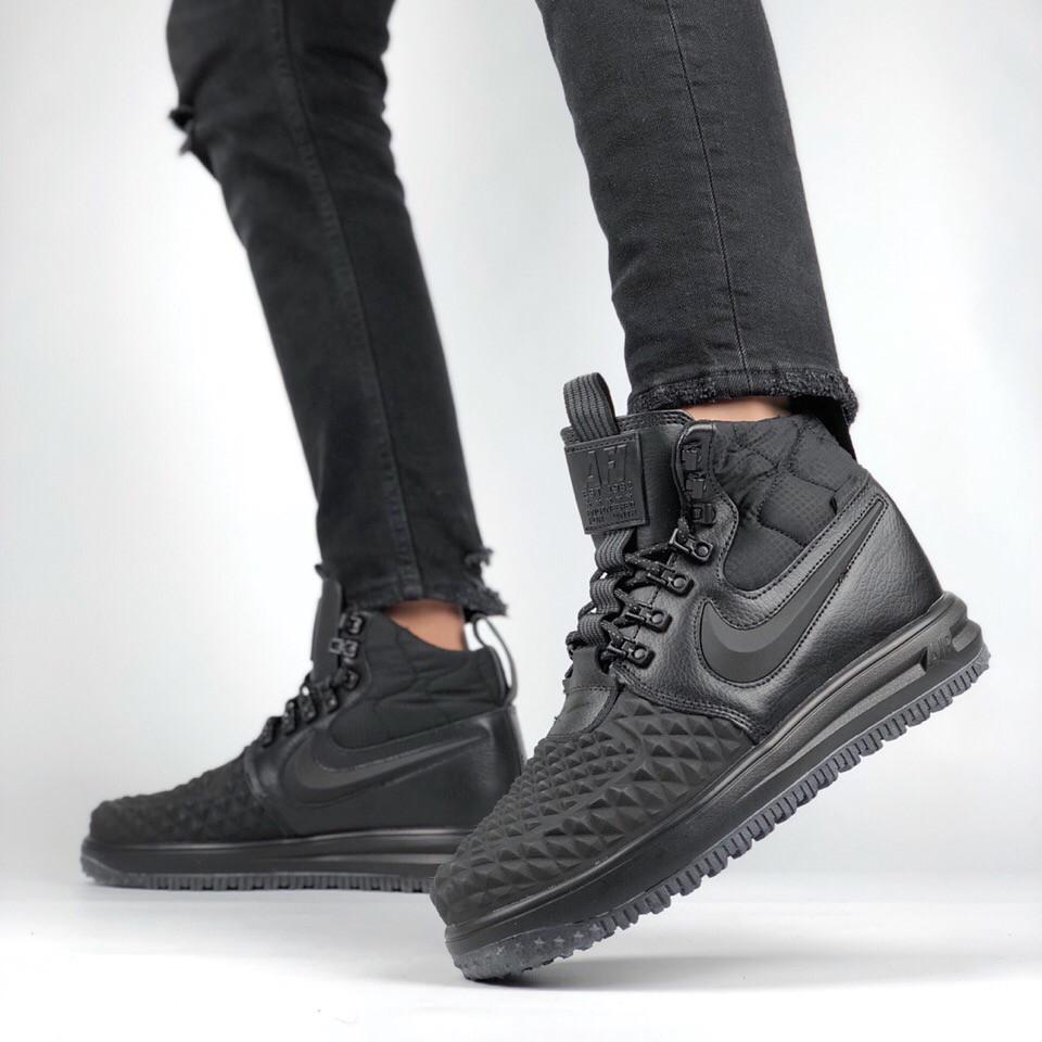 85a8e04c Мужские кроссовки Nike Lunar Force 2 Duckboot (в стиле Найк Лунар Форс)  черные -