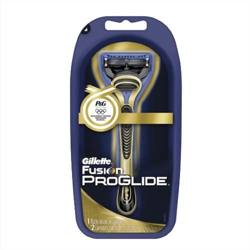 Gillette Fusion Proglide Gold (2) мужской станок для бритья
