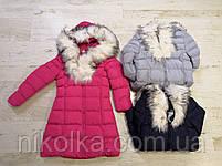 Куртки на меху для девочек оптом, Glo-Story, 110-160 рр., арт. GMA-6501, фото 2