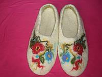 Тапопочки валяные  в украинском стиле