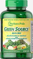 Green Source® Iron Free Multivitamin & Minerals (натуральные витамины и минералы) 120 таб. 60