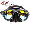 Маска для подводного плавания MARLIN Hybrid karbon (просветленные стекла)