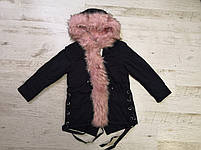 Куртки на меху для девочек оптом, Glo-Story, 110-160 рр., арт.GSX-6781, фото 2
