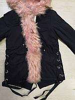 Куртки на меху для девочек оптом, Glo-Story, 110-160 рр., арт.GSX-6781, фото 3