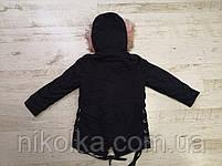 Куртки на меху для девочек оптом, Glo-Story, 110-160 рр., арт.GSX-6781, фото 5