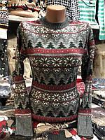 Теплий светр жіночий вовняної без горла сірий.Виробництво Туреччина., фото 1