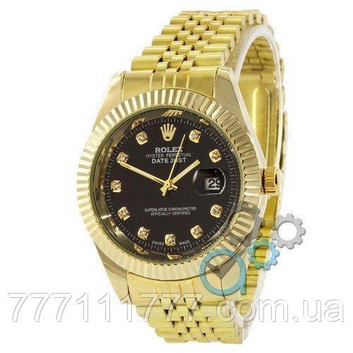 5eac242b314f Часы женские наручные Rolex Date Just Gold-Black гарантия  продажа ...