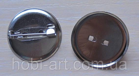Брошка 20 мм.+ шпилька (BU-020)