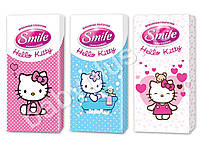 "Платки носовые детские Smile ""Hello Kitty"" стандарт микс 10шт"