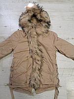 Куртки на меху для девочек оптом, Glo-Story, 110-160 рр., арт. GSX-6784, фото 4