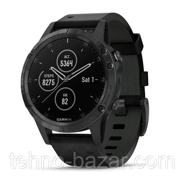 Умные часы Smart Watch Garmin Fenix 5 Plus Black