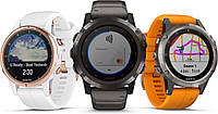Умные часы Smart Watch Garmin Titanium Fenix 5 Plus Sapphire Black with spark Orange Band (010-01988-04), фото 7