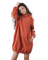 Красивое теплое платье женское яркого цвета