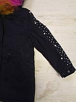 Куртки на меху для девочек оптом, Glo-Story, 110-160 рр., арт.GSX-6785, фото 5