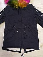 Куртки на меху для девочек оптом, Glo-Story, 110-160 рр., арт.GSX-6785, фото 3