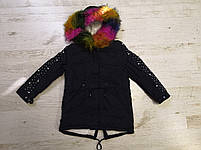 Куртки на меху для девочек оптом, Glo-Story, 110-160 рр., арт.GSX-6785, фото 2