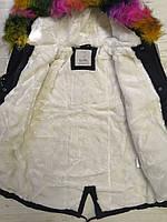 Куртки на меху для девочек оптом, Glo-Story, 110-160 рр., арт.GSX-6785, фото 4