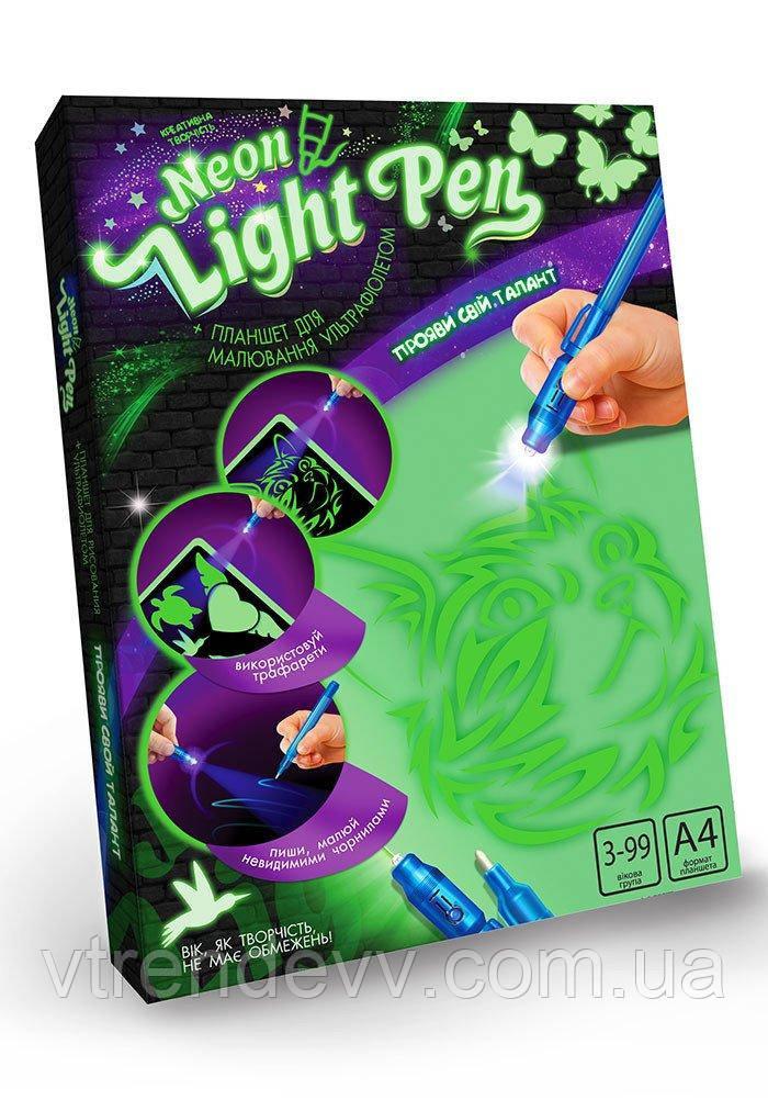 Рисуй светом Neon Light Pen А4