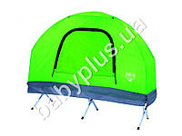 Bestway Туристический набор. Раскладушка, одноместная палатка (полиэстер 190T), надувной матрас, спальный мешок, покрытие на мат