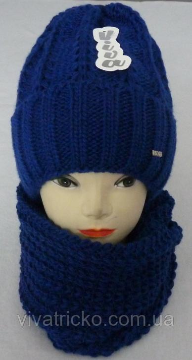 Комплект шапка+баф м 6112 разные цвета