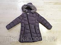Куртки на меху для девочек оптом, Glo-Story, 110-160 рр., арт.GMA-6451, фото 4