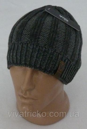 Мужская шапка зимняя, флис м 6129, разные цвета