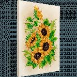FLF-036 Подсолнухи. Набор для вышивки бисером на подрамнике, фото 2