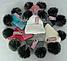Шапка вязаная для девочки с помпонами м 6141, разные цвета, фото 3