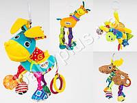 Подвеска на коляску, 4 вида (паук20см, ослик 32см, жираф 33см, олень 26см), в кульке