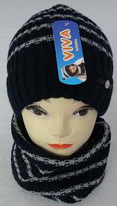 Комплект шапка+баф м 6144 разные цвета