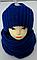 Комплект шапка на флисе и баф с люрексом м 6156, фото 2