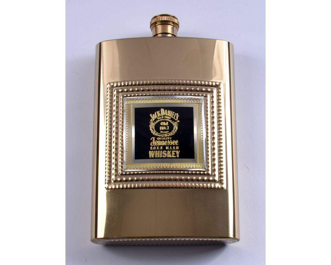 Фляга из нержавеющей стали золотая Whiskey (256мл/9oz)