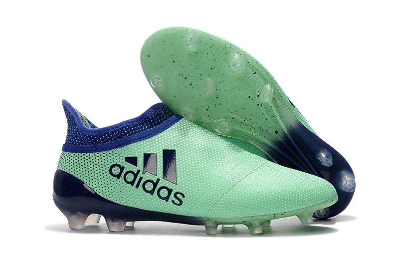 Мужские бутсы Adidas X 17+ Purespeed FG бирюзовый