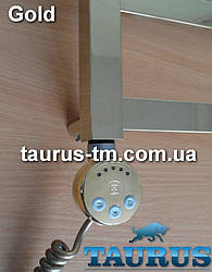 Золотой ЭлектроТЭН TERMA MEG1 GOLD с регулятором 30-65С + LED, Польша. Мощность: 120-1000W в полотенцесушитель