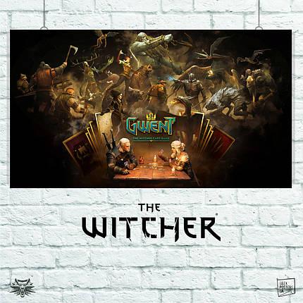 Постер Гвент, Gwent. Witcher, Геральт, Цири, Ведьмак. Размер 60x34см (A2). Глянцевая бумага, фото 2